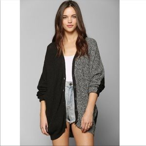 Sparkle & Fade cable knit black sweater cardigan S